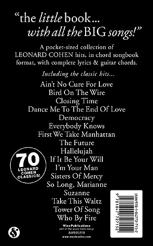 New chords/lyrics songbook - leonardcohenforum.com
